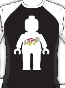 White Minifig with Music Log, Customize My Minifig T-Shirt