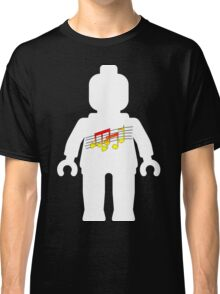 White Minifig with Music Log, Customize My Minifig Classic T-Shirt