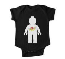 White Minifig with Music Log, Customize My Minifig One Piece - Short Sleeve