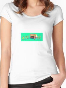 Fast Food Turf War! Women's Fitted Scoop T-Shirt