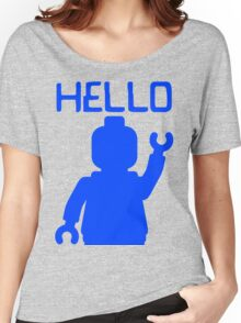 Minifig Hello Women's Relaxed Fit T-Shirt