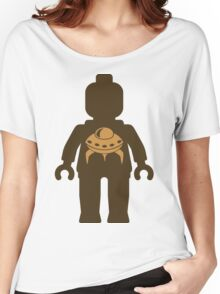 Minifig with UFO  Women's Relaxed Fit T-Shirt