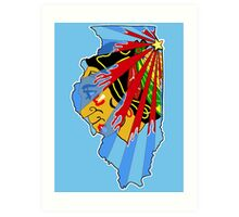 Illinois Blackhawks Art Print