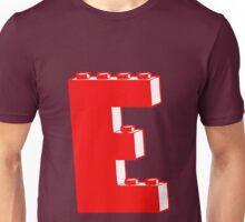 THE LETTER E, Customize My Minifig Unisex T-Shirt
