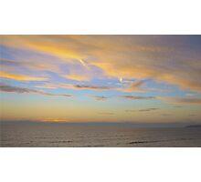 Sunset At Westward Ho! Photographic Print