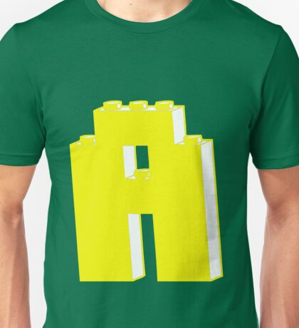 THE LETTER A, Customize My Minifig Unisex T-Shirt