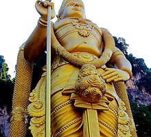 The Golden Buddha - Batu Caves, Malaysia. by Tiffany Lenoir