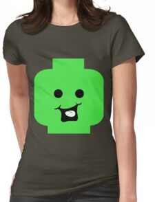 Cheeky Minifig Head Womens Fitted T-Shirt