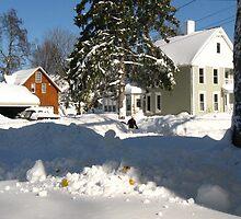 Snow Daze ~ Just Across The Street by artwhiz47