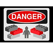 Danger Bricks & Minifig Photographic Print