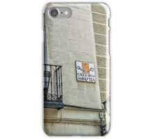 Balcony at Amnesty street in Madrid city center iPhone Case/Skin