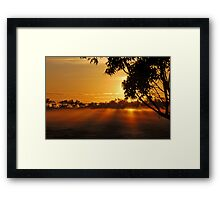 The rays of dawn Framed Print