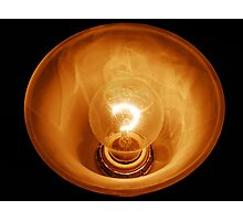 Glass Illuminated Light Bulb Photographic Print