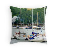 Dartmouth Yachts Throw Pillow