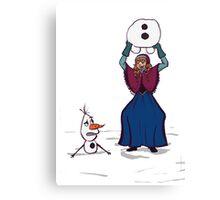 Anna and Olaf Canvas Print