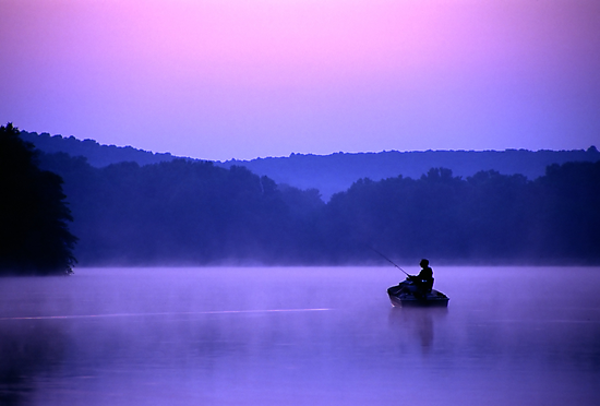 Twilight Fisherman by Michael Mill