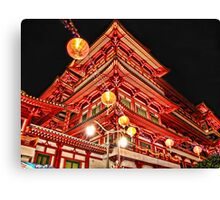 Buddhist Temple in Chinatown, Singapore Canvas Print