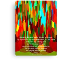 The Lord's Prayer For Children Canvas Print