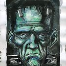 FRANKENSTEIN WATER COLOR by mrbones