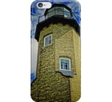 """Summer days"" White River Lightouse Station, Whitehall, Michigan iPhone Case/Skin"