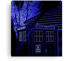 Neon Blue T.A.R.D.I.S. Canvas Print