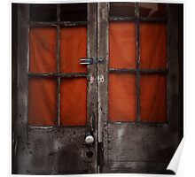 Aged Orange Door - New Orleans, LA Poster