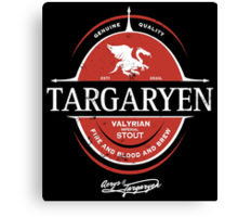 Targaryen Imperial Stout Canvas Print