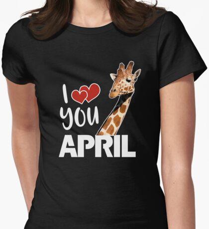 April The Giraffe T Shirt Womens Fitted T-Shirt
