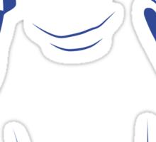 Festive Penguin, Blue Sticker