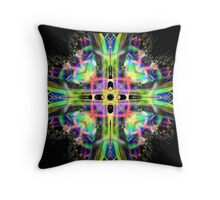 black sabbath stained glass Throw Pillow