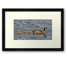 Mother and Three Babies Framed Print