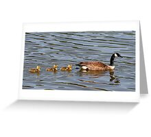 Mother and Three Babies Greeting Card