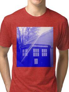 Blue and White T.A.R.D.I.S. Tri-blend T-Shirt
