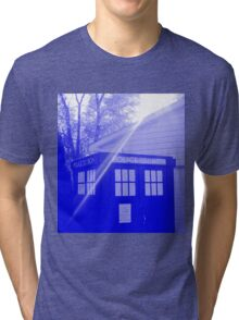 Blue and White T.A.R.D.I.S. Tri-blend T-Shirt