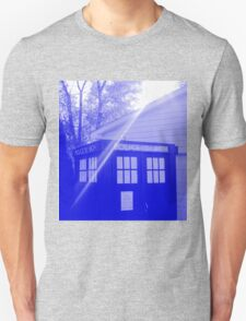 Blue and White T.A.R.D.I.S. Unisex T-Shirt