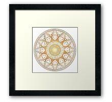 God Angel Mandala Framed Print