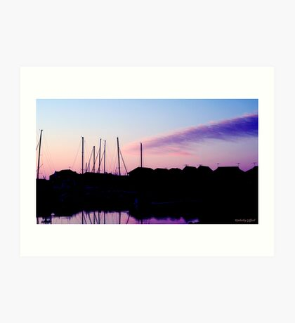 Silhouette Yachts Art Print