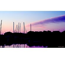 Silhouette Yachts Photographic Print
