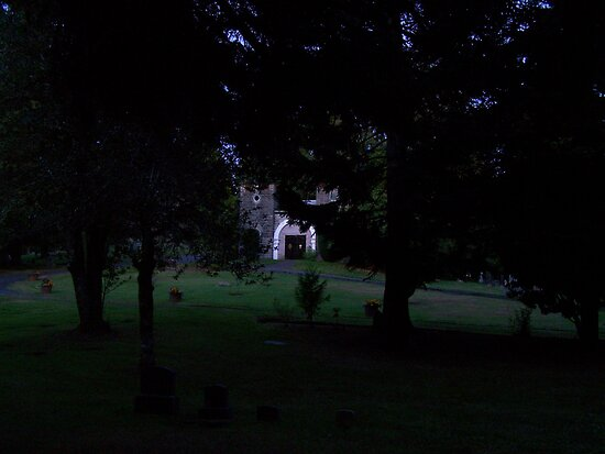 cemetary at night by michael griffith