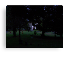 cemetary at night Canvas Print