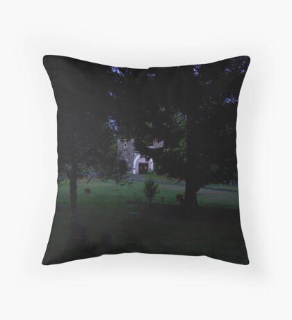 cemetary at night Throw Pillow