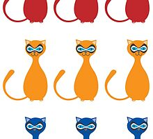 Cats in masks by 4Flexiway