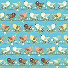 Assorted birds pattern by Gaspar Avila