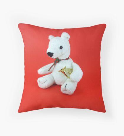 French Horn Bear Throw Pillow
