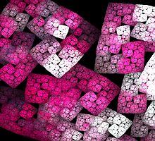 Red Fractal Blocks by cshphotos
