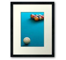 pool table Framed Print