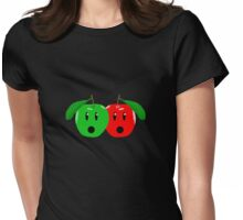 Shocked Apples Womens Fitted T-Shirt