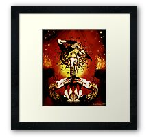 feu d' enfer Framed Print
