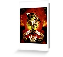 feu d' enfer Greeting Card