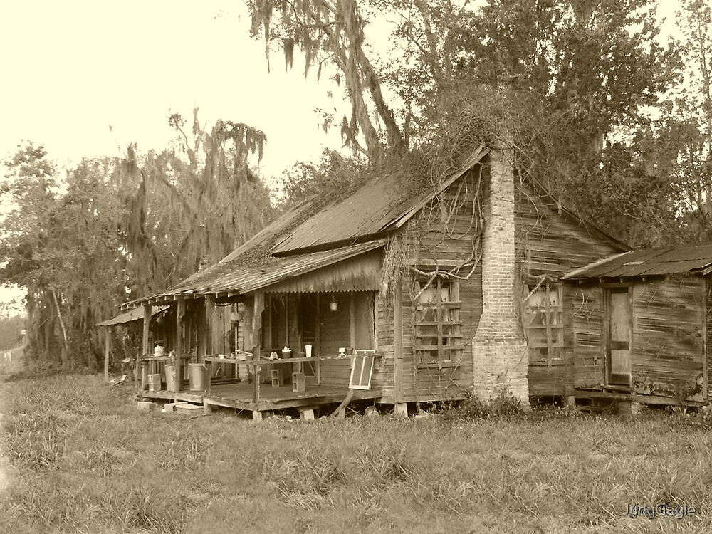Old Cracker House in B/W by Judy Gayle Waller